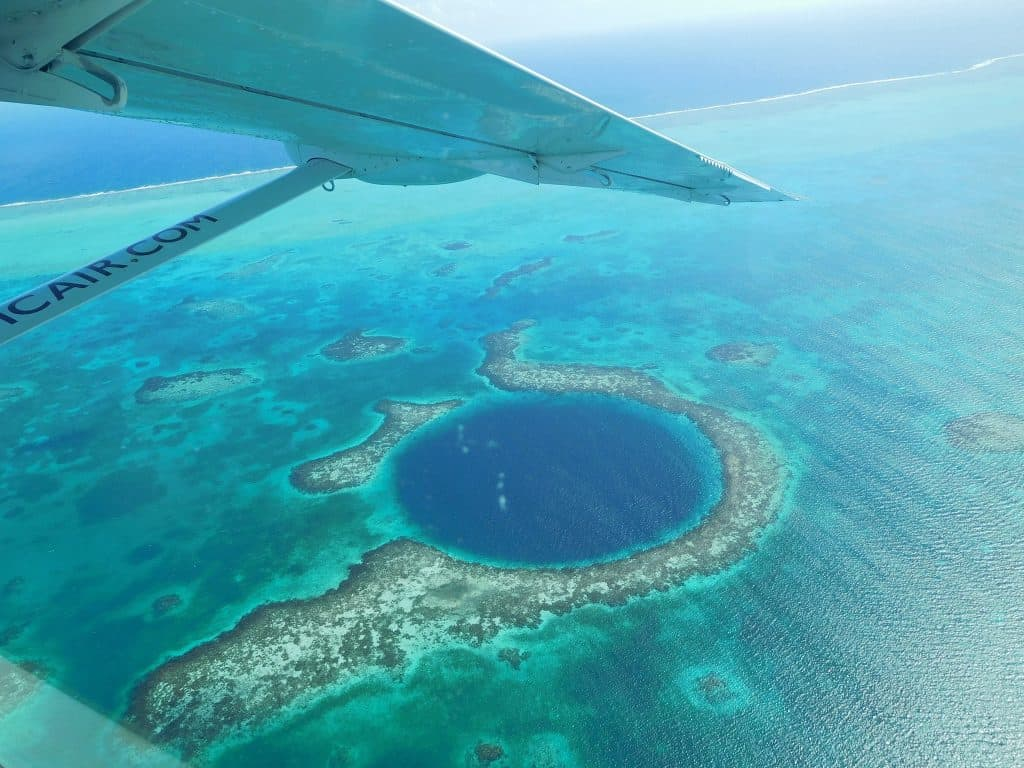 Drift Inn Belize-Fly over the Blue Hole