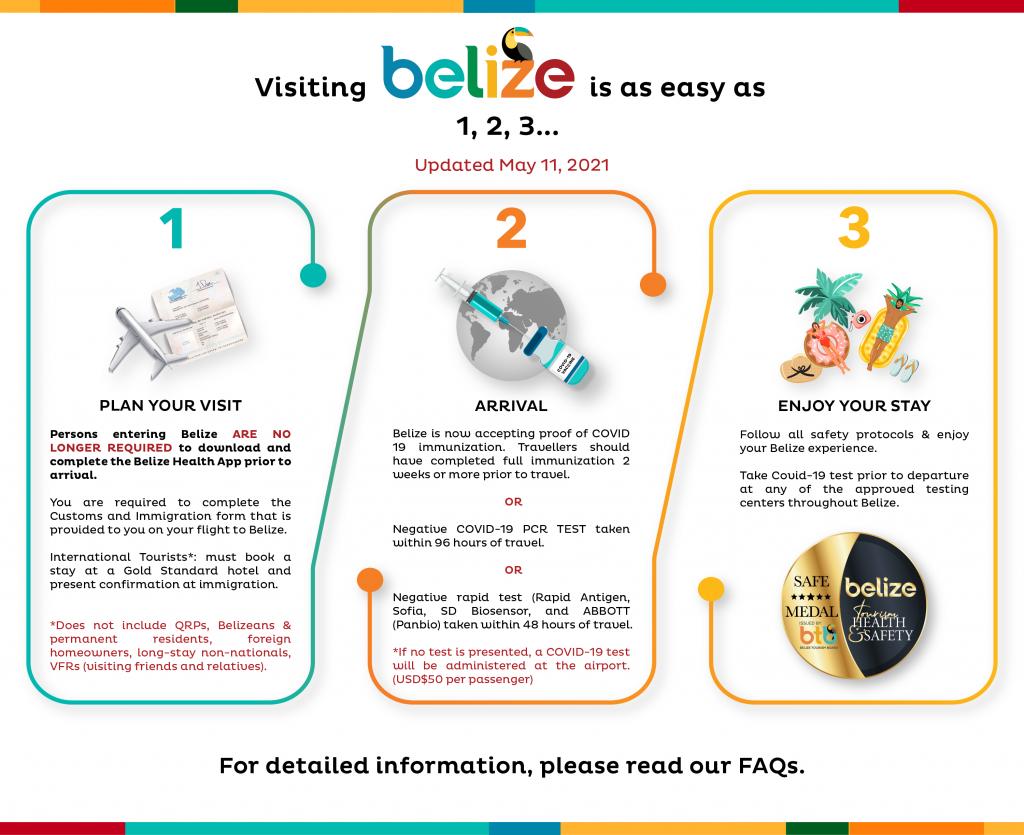 vaccinated-travelers-enter-belize-3-steps